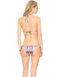 Pilyq Multicolor Armed Triangle Bikini Top
