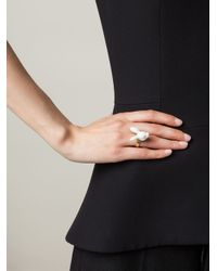 Andres Gallardo - Metallic Rabbit Head Ring - Lyst