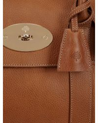 Mulberry Gray Bayswater Buckle Natural Leather Bag