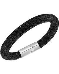 Swarovski | Black Stardust Crystal Filled Mesh Bracelet | Lyst