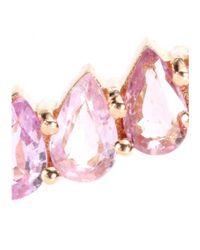 Ileana Makri - 18kt Rose Gold Single Earring With Pear-cut Pink Sapphires - Lyst