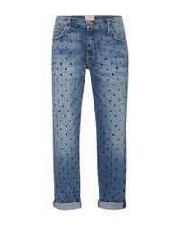 Current/Elliott - Blue The Fling Polka Dot Jeans - Lyst