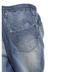 Miharayasuhiro - Blue Baggy Washed Light Cotton Denim Jeans for Men - Lyst
