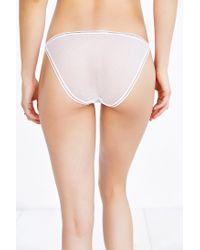 Urban Outfitters White Joey Mesh String Bikini