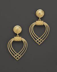Lagos - Metallic 18k Gold Drop Earrings - Lyst
