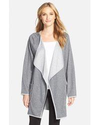 Carole Hochman Gray Drape Front Short Robe