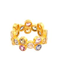 Marie-hélène De Taillac | Multicoloured Sapphire & Yellow-Gold Ring | Lyst
