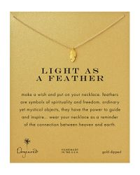 Dogeared | Metallic Feather Charm Necklace | Lyst