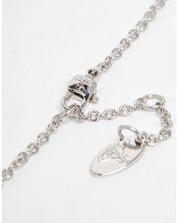 Vivienne Westwood - Red Diamante Heart Pendant Necklace - Lyst