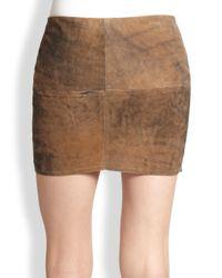 Bailey 44 Brown Sugar Maple Leather Mini Skirt