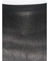 Helmut Lang Black Leather Skirt