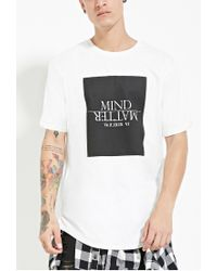 Forever 21 - White Mind Graphic Tee for Men - Lyst