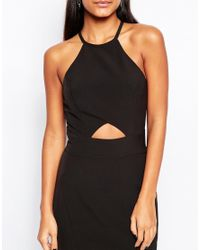 Jarlo - Black Elenora Maxi Dress With Cut Out Detail And Flared Skirt - Lyst