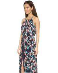 Ella Moss | Blue Floral-print Sleeveless Maxi Dress | Lyst