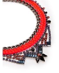 Joomi Lim - Metallic 'rebel Romance' Cotton Braid Crystal Chain Necklace - Lyst
