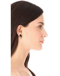 Elizabeth Cole Metallic Petite Mohawk Earrings