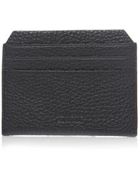 Vivienne Westwood - Black Leather Grain Orb Card Holder for Men - Lyst