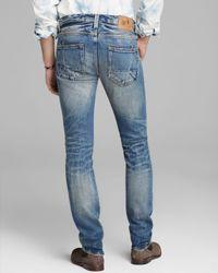 PRPS Blue Japanese Selvedge Rambler Super Slim Fit Jeans In Five Year Wash for men