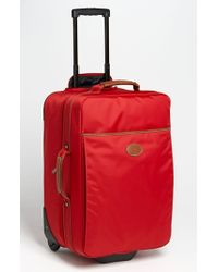 Longchamp | Red 'le Pliage' Wheeled Carry-on | Lyst