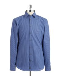 Strellson | Blue Checkered Sportshirt for Men | Lyst