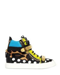Giuseppe Zanotti | Multicolor 20mm Satin and Leather Sneakers | Lyst