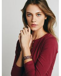 Free People | Brown Bolas Bracelet | Lyst