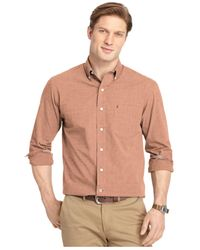 Izod | Red Long-sleeve Button-down Shirt for Men | Lyst