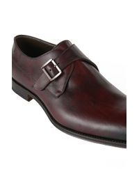 BOSS Red 't-legendio' | Italian Leather Monk Strap Dress Shoes for men