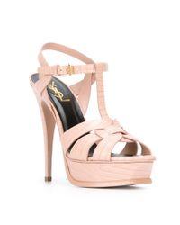 Saint Laurent | Pink 'tribute' Sandals | Lyst