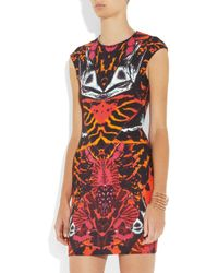 McQ Pink Printed Stretch-jersey Dress