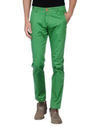 Yan Simmon Green Casual Trouser for men