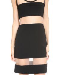 Moschino Mesh Stripe Dress - Black