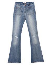 Mango Blue Flared Jeans