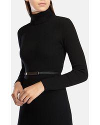 Karen Millen - Green Skinny Calf Hair Belt - Lyst