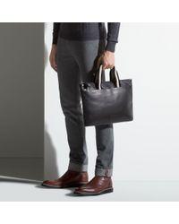 Bally Brown Tigan Men's Leather Business Bag In Black for men