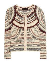 Isabel Marant Natural Weston Crochet Knit Jacket