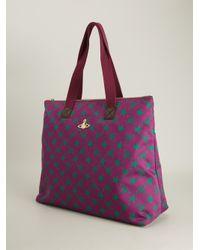 Vivienne Westwood Purple Star And Monogram Shoulder Bag