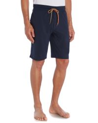 Paul Smith | Blue Jersey Cuffed Lounge Shorts for Men | Lyst
