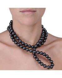 Stella McCartney | Black Pearl Necklace | Lyst