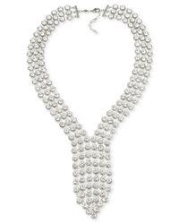 Carolee | Metallic Silver-tone Crystal Drama Necklace | Lyst