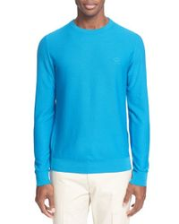 Paul & Shark - Blue 'aqua' Pique Long Sleeve Shirt for Men - Lyst