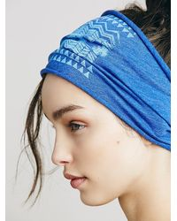 Free People - Blue Soul Flower Womens Organic Printed Headband - Lyst