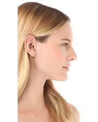 Gabriela Artigas | Yellow White Diamond Stud Earrings | Lyst