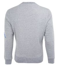 KENZO Blue Grey Embroidered Wave Sweatshirt for men