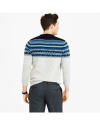 J.Crew | Blue Lambswool Fair Isle Sweater In Navy for Men | Lyst