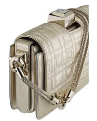 Azzaro | Metallic Vendôme Chaine Quilted Shoulder Clutch | Lyst