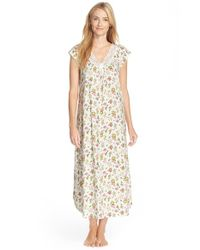Carole Hochman | White Flower Print Cap Sleeve Long Nightgown | Lyst