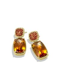 David Yurman - Chatelaine Drop Earrings with Madeira Citrine and Orange Sapphires - Lyst