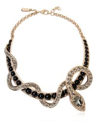 Roberto Cavalli | Metallic Embellished Snake Necklace | Lyst