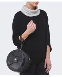 Vivienne Westwood Black Circular Bow Bag